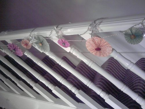 Homemade stair decorations